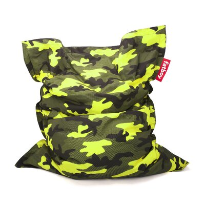 Original Bean Bag Lounger Camouflage Upholstery: Green