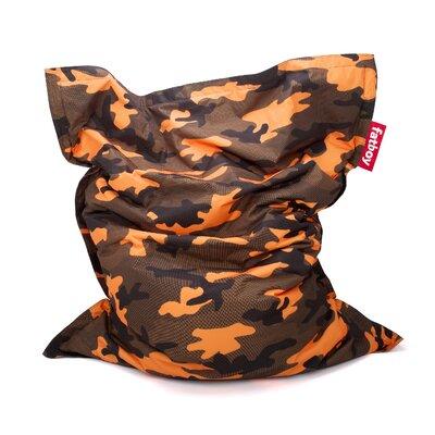 Original Bean Bag Lounger Camouflage Upholstery: Orange