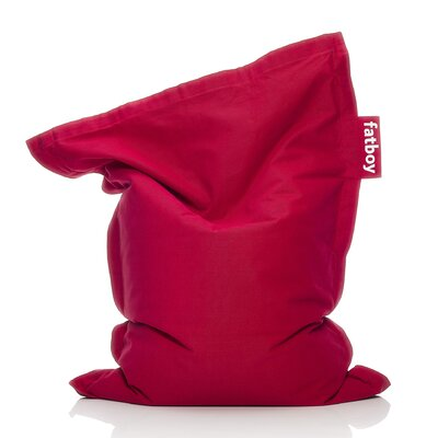Junior Stonewashed Bean Bag Upholstery: Red