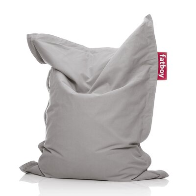 Junior Stonewashed Bean Bag Upholstery: Silver Gray