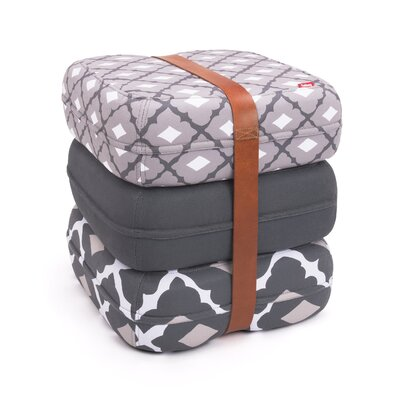Baboesjka Ottoman Pillow Color: Amalia Cinza