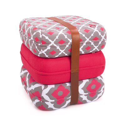 Baboesjka Ottoman Pillow Color: Amalia Rosa