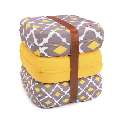 Baboesjka Ottoman Pillow Color: Eusebio Amarelo