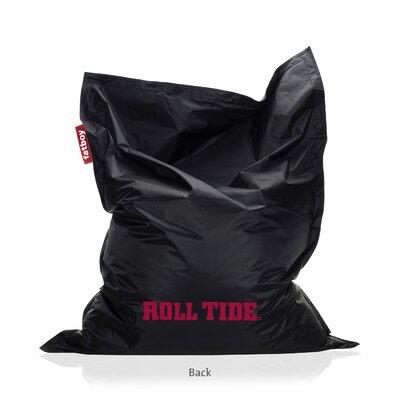 Collegiate Bean Bag Lounger Upholstery: Black, NCAA Team: Alabama
