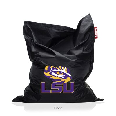 Collegiate Bean Bag Lounger Upholstery: Black, NCAA Team: LSU