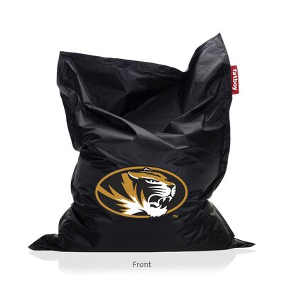 Collegiate Bean Bag Lounger Upholstery: Black, NCAA Team: Missouri