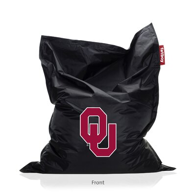 Collegiate Bean Bag Lounger Upholstery: Black, NCAA Team: Oklahoma