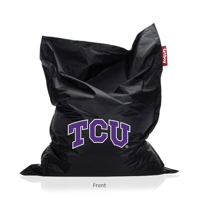 Collegiate Bean Bag Lounger Upholstery: Black, NCAA Team: TCU