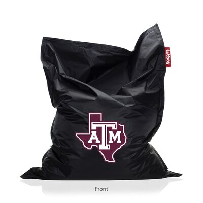 Collegiate Bean Bag Lounger Upholstery: Black, NCAA Team: Texas A&M