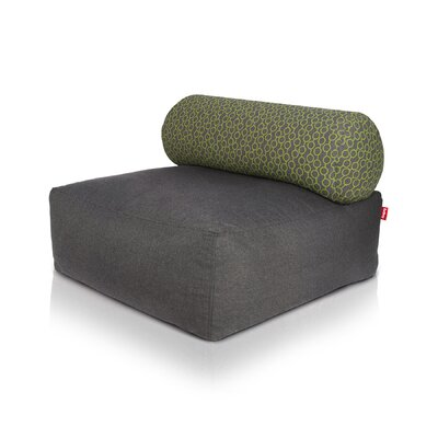 Tsjonge Jong Chaise Lounge Upholstery: Dark Gray / Circles Green