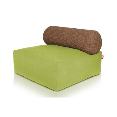 Tsjonge Jong Chaise Lounge Upholstery: Green / Circles Orange