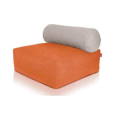 Tsjonge Jong Chaise Lounge Upholstery: Orange / Light Grey