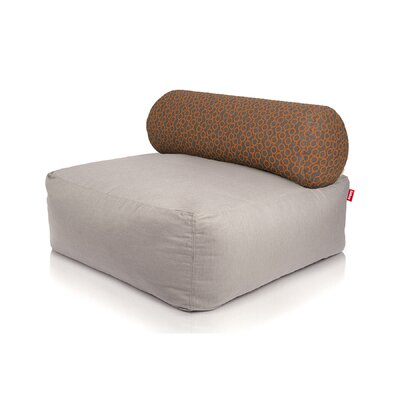 Tsjonge Jong Chaise Lounge Upholstery: Light Grey / Circles Orange
