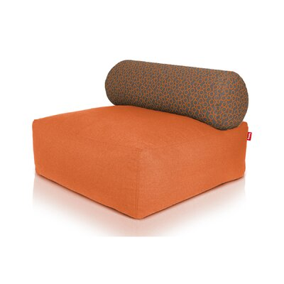 Tsjonge Jong Chaise Lounge Upholstery: Orange / Circles Orange