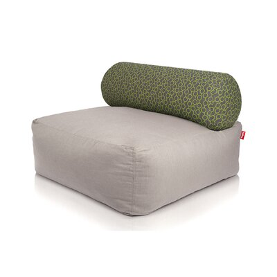 Tsjonge Jong Chaise Lounge Upholstery: Light Grey / Circles Green
