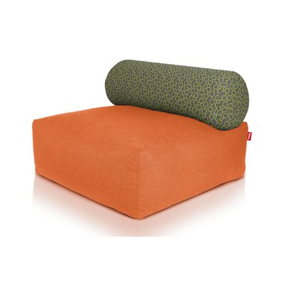 Tsjonge Jong Chaise Lounge Upholstery: Orange / Circles Green
