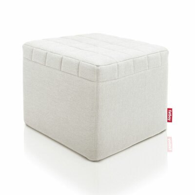 Avenue Cube Ottoman Upholstery: Light Grey