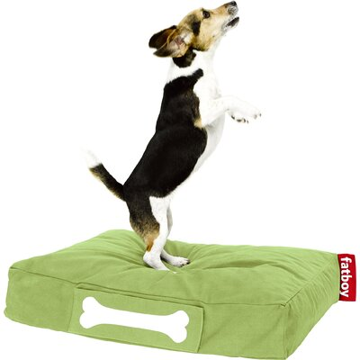 Doggielounge Stonewashed Rectangular Pet Bed Size: Small (32 W x 24 D), Color: Lime Green