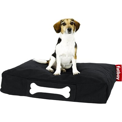 Doggielounge Stonewashed Rectangular Pet Bed Color: Black, Size: Small (32 W x 24 D)