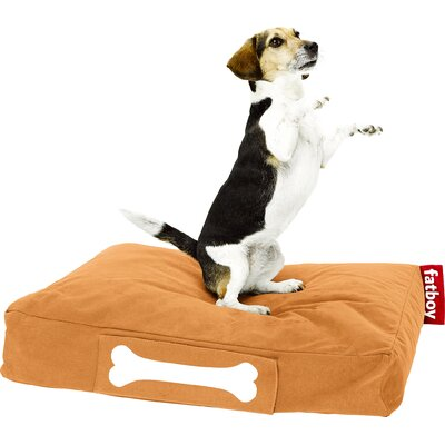 Doggielounge Stonewashed Rectangular Pet Bed Color: Orange, Size: Small (32 W x 24 D)