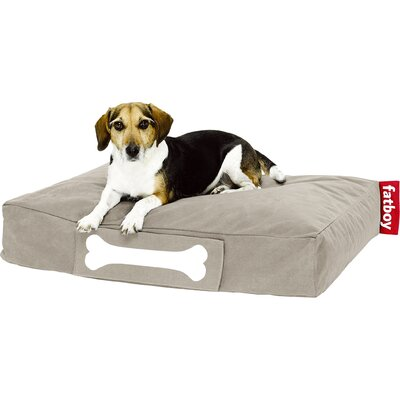 Doggielounge Stonewashed Rectangular Pet Bed Color: Sand, Size: Small (32 W x 24 D)