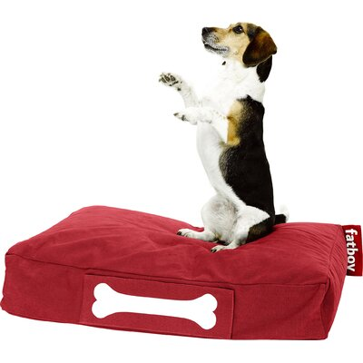 Doggielounge Stonewashed Rectangular Pet Bed Size: Small (32 W x 24 D), Color: Red