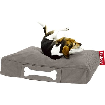 Doggielounge Stonewashed Rectangular Pet Bed Color: Taupe, Size: Small (32 W x 24 D)