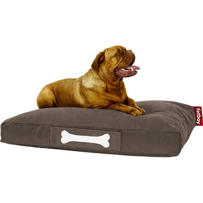 Doggielounge Stonewashed Rectangular Pet Bed Size: Large (48 W x 32 D), Color: Brown