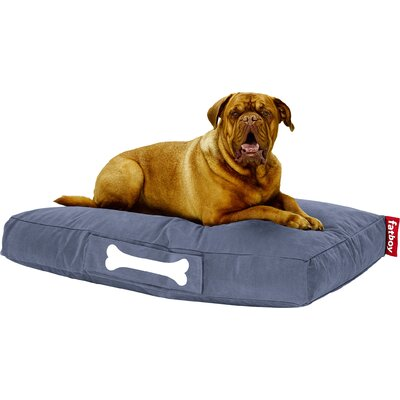 Doggielounge Stonewashed Rectangular Pet Bed Color: Blue, Size: Small (32 W x 24 D)