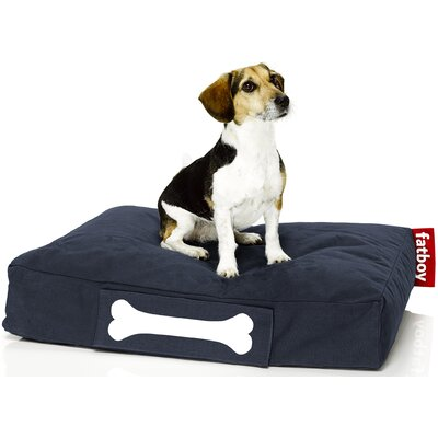 Doggielounge Stonewashed Rectangular Pet Bed Size: Large (48 W x 32 D), Color: Dark Blue