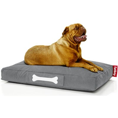 Doggielounge Stonewashed Rectangular Pet Bed Color: Grey, Size: Small (32 W x 24 D)