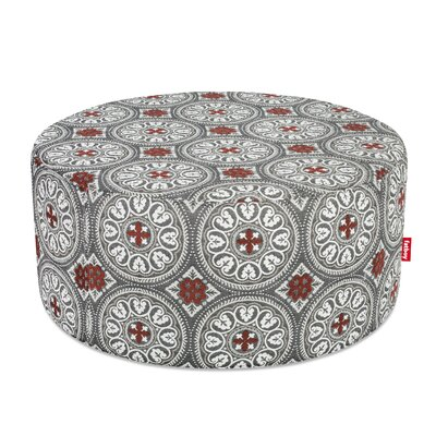 Ottoman with Cushion Finish: Dark Gray