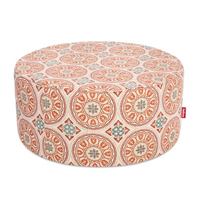 Ottoman with Cushion Finish: Orange