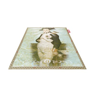 Bonaparte Non-Flying Green/Blue Indoor/Outdoor Novelty Rug