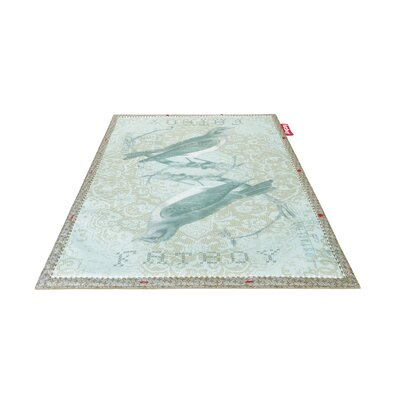 Tweet Non-Flying Blue Indoor/Outdoor Novelty Rug