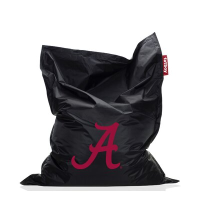 Collegiate Bean Bag Chair NCAA Team: Alabama, Upholstery: Black