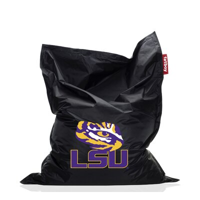 Collegiate Bean Bag Chair NCAA Team: LSU, Upholstery: Black