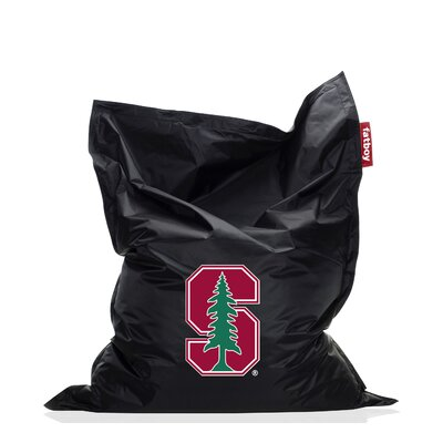 Collegiate Bean Bag Chair NCAA Team: Stanford, Upholstery: Black