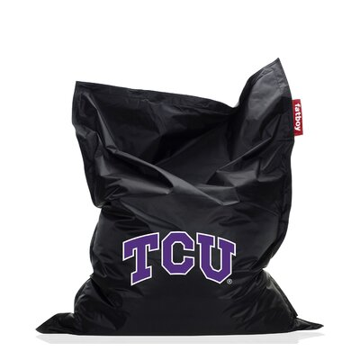 Collegiate Bean Bag Chair NCAA Team: TCU, Upholstery: Black