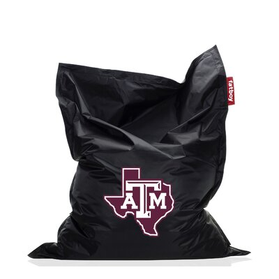 Collegiate Bean Bag Chair NCAA Team: Texas A&M, Upholstery: Black