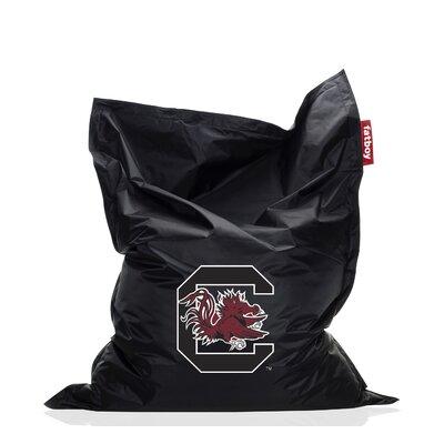 Collegiate Bean Bag Chair NCAA Team: South Carolina, Upholstery: Black