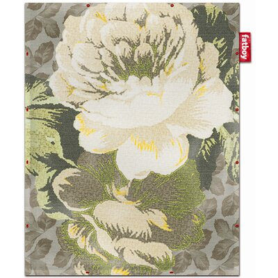 Non-Flying Yellow Floral Rug Rug Size: 44 x 57