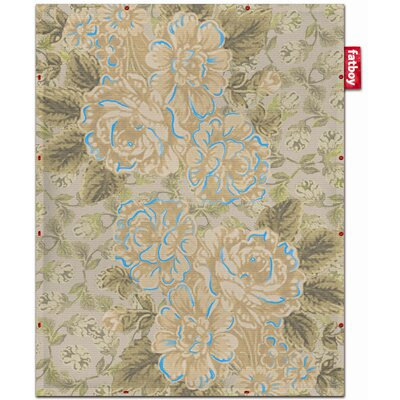 Non-Flying Blue Floral Rug Rug Size: 44 x 57