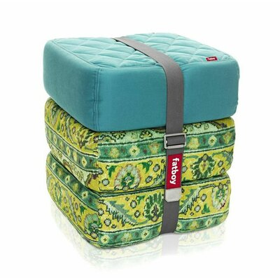 Baboesjka Ottoman Pillow Color: Aqua / Persian Lime / Persian Lime