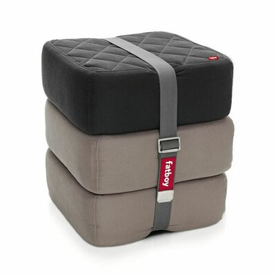 Baboesjka Ottoman Pillow Color: Black / Taupe / Taupe