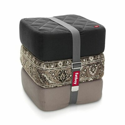 Baboesjka Ottoman Pillow Color: Black / Taupe / Persian Taupe