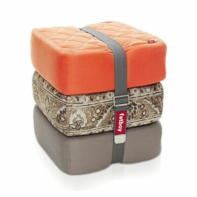 Baboesjka Ottoman Pillow Color: Orange / Persian Taupe / Taupe
