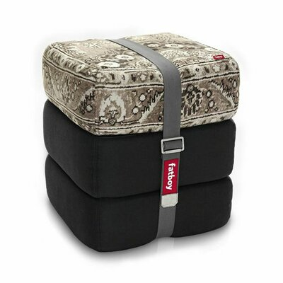 Baboesjka Ottoman Pillow Color: Taupe / Black / Black
