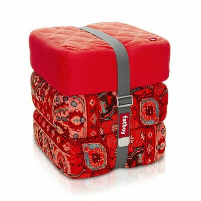 Baboesjka Ottoman Pillow Color: Red / Persian Red / Persian Red