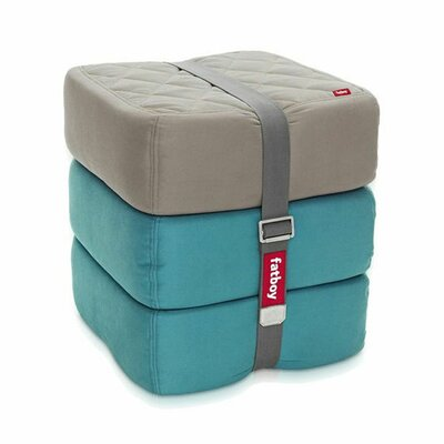 Baboesjka Ottoman Pillow Color: Taupe / Aqua / Aqua